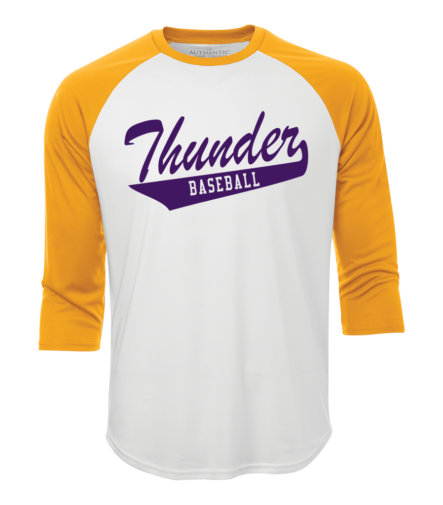 Tecumseh Thunder Tail Logo Adult Dri-Fit Baseball Tee
