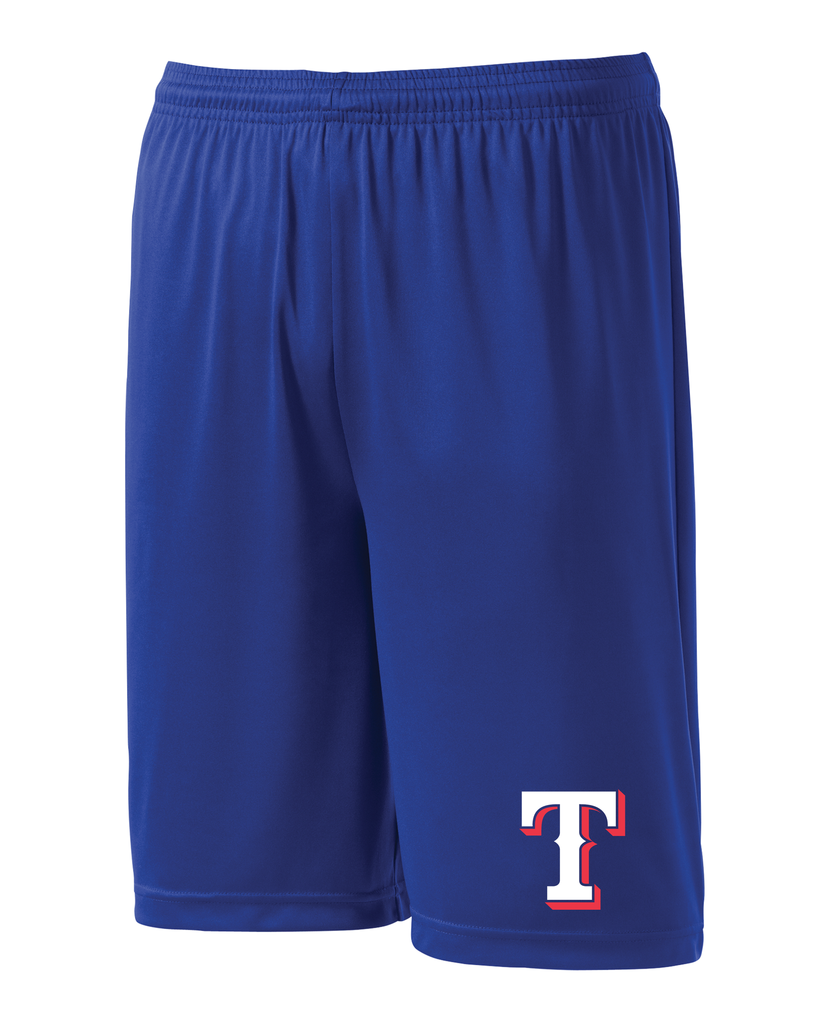 "Rangers Adult ""T"" Logo Pro Team Shorts"