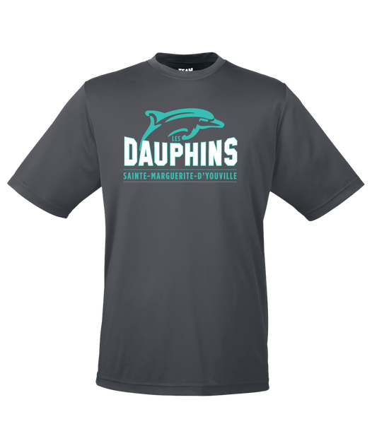 Dauphins Ladies Dri-Fit T-Shirt with Printed Logo
