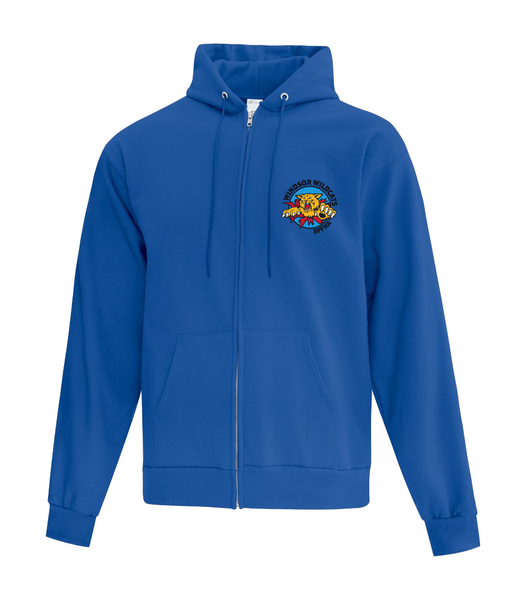 Wildcats Hockey Adult Cotton Full Zip Hooded Sweatshirt with Embroidered Left Chest & Personalization