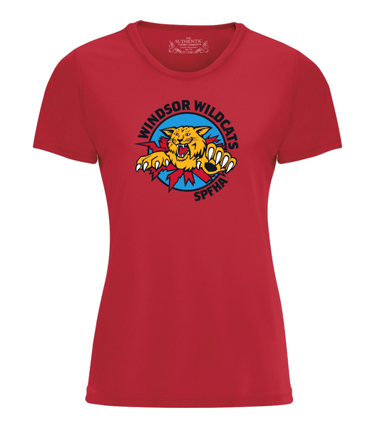 Wildcats Hockey Performance Ladies Tee with Full Colour Printing
