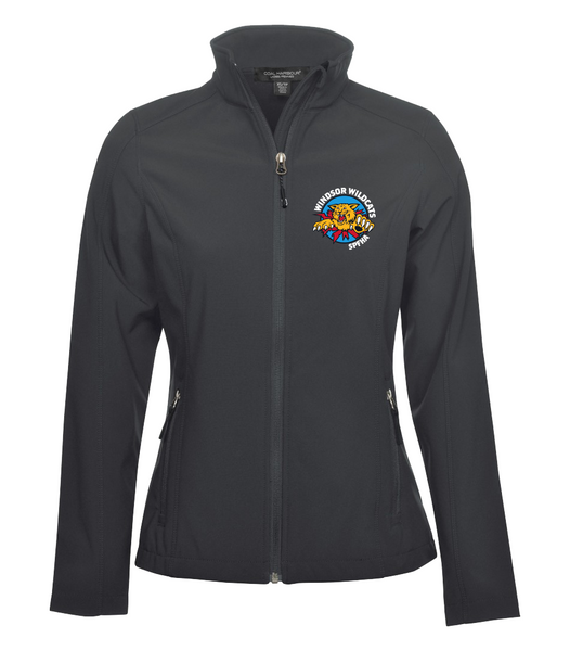 Wildcats Hockey Soft Shell Ladies Jacket with Embroidered Left Chest