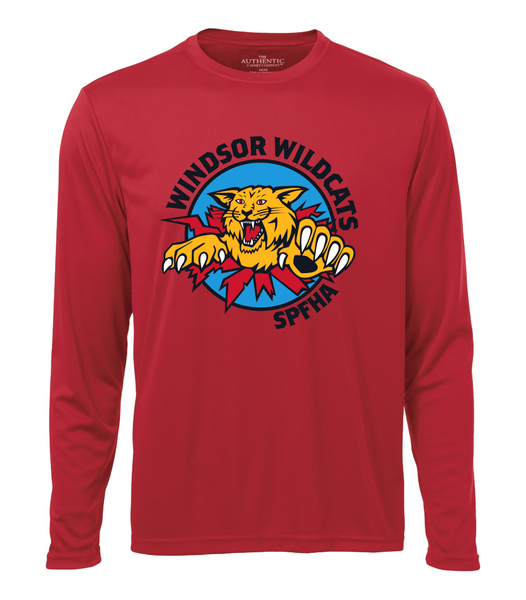 Wildcats Hockey Youth Dri-Fit Long Sleeve with Full Colour Printing