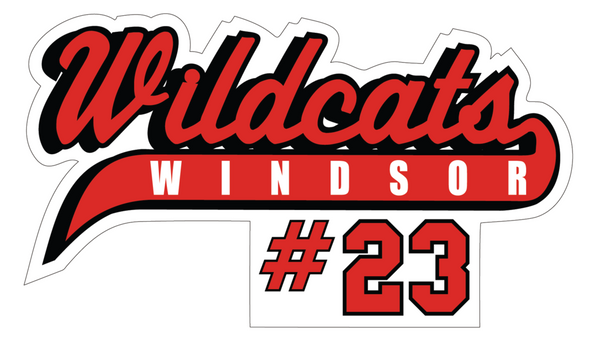 Wildcats Softball Decal with Number
