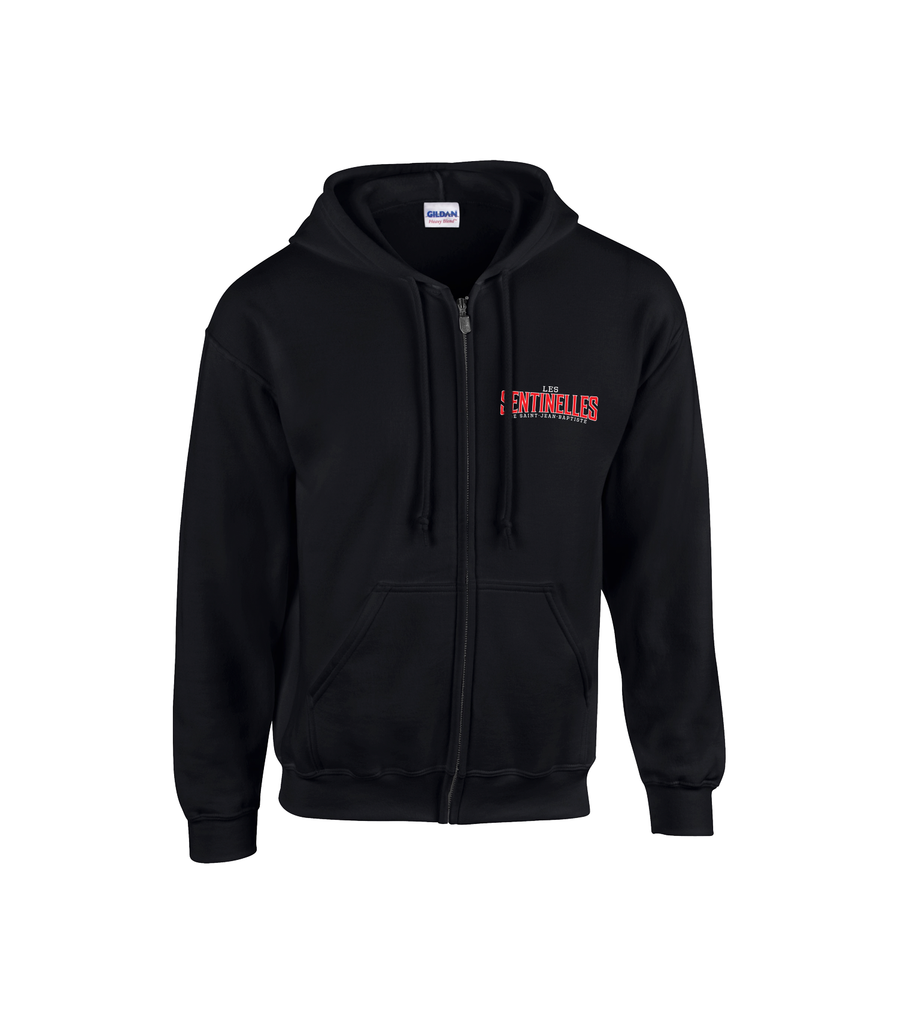 Sentinelles Adult Cotton Full Zip Hooded Sweatshirt with Embroidered Logo