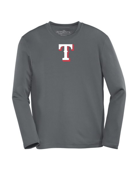 "Rangers Youth ""T"" Logo Dri-Fit Long Sleeve"