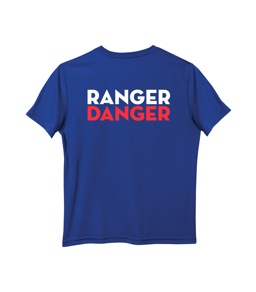 Tecumseh Rangers 'Ranger Danger' Youth Dri-Fit Tee