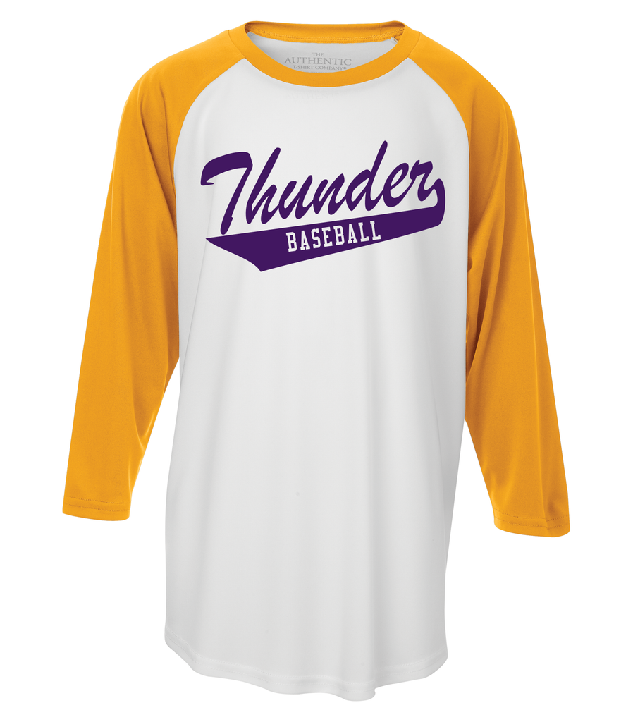 Thunder Youth Tail Logo Dri-Fit Baseball Tee