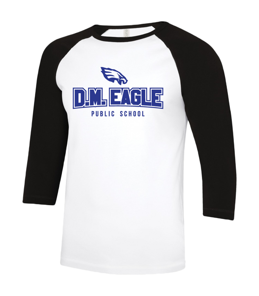 Eagles Youth Two Toned Baseball T-Shirt with Printed Logo