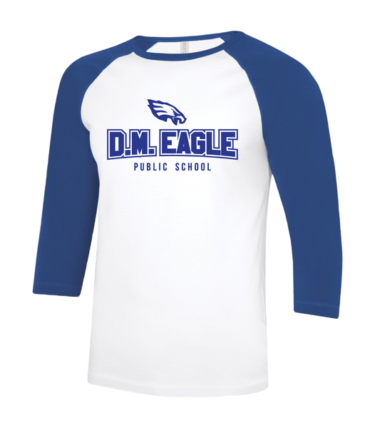 Eagles Adult Two Toned Baseball T-Shirt with Printed Logo