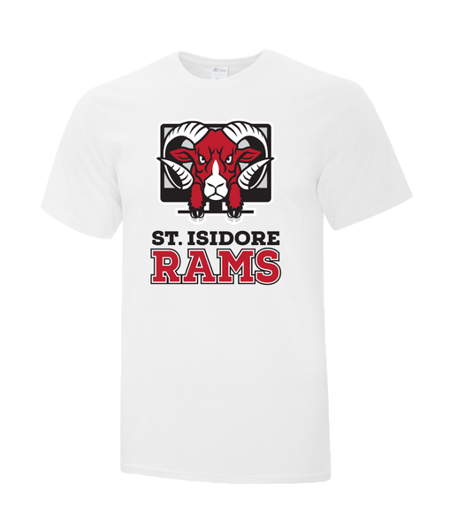 Rams Adult Cotton T-Shirt with Printed logo
