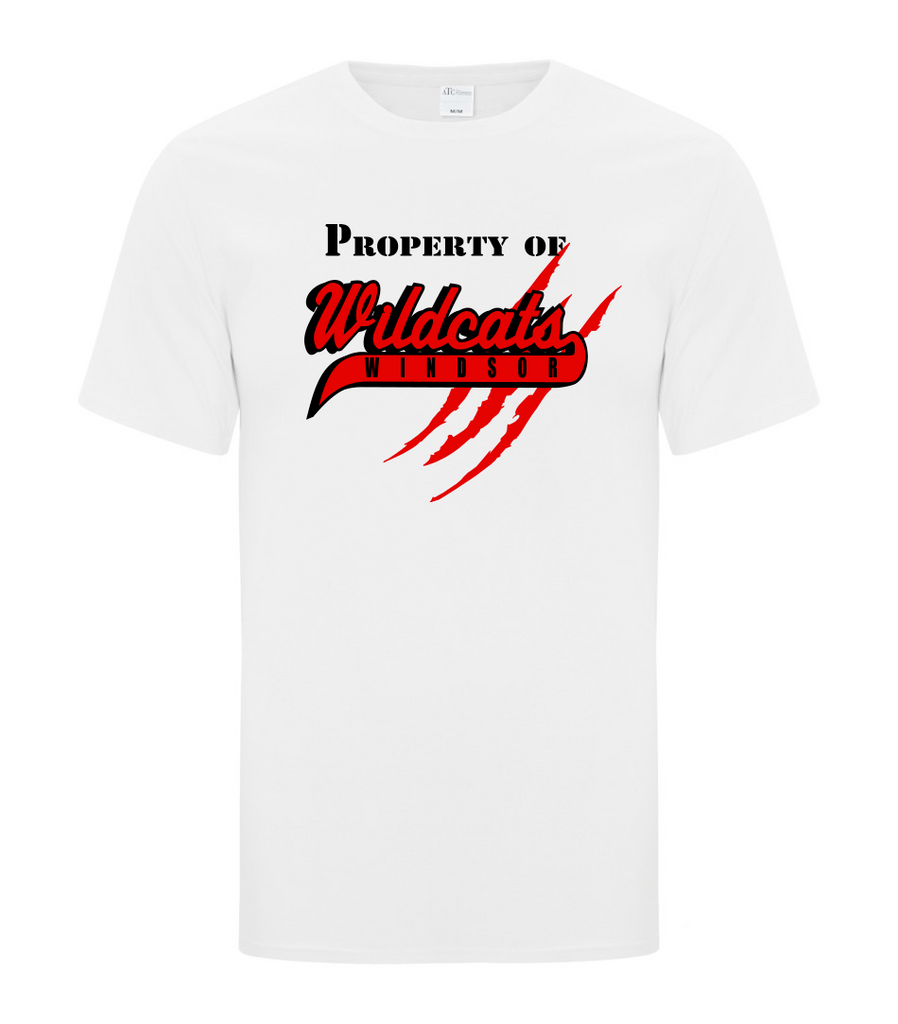 "Wildcats Softball Adult ""Property of"" Tee"