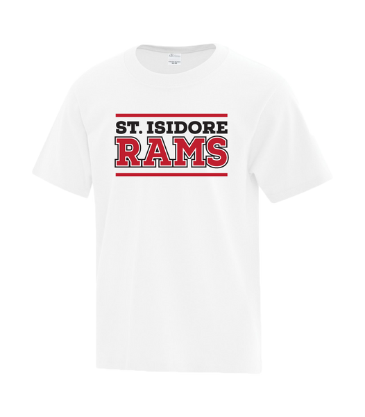 St. Isidore Rams Youth Cotton T-Shirt with Printed logo