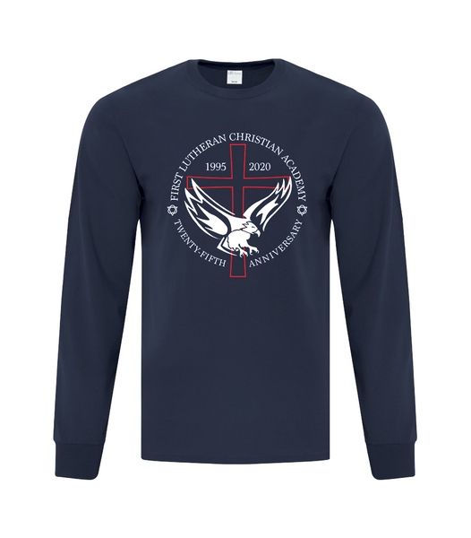 Adult 25th Anniversary Cotton Long Sleeve with Printed Logo