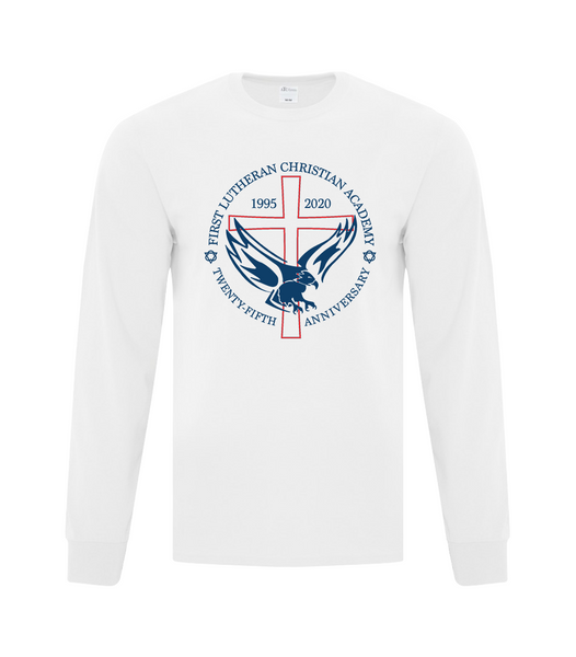Youth 25th Anniversary Cotton Long Sleeve with Printed Logo
