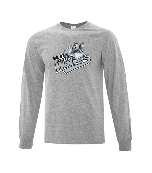 Wolves Cotton Long Sleeve with Printed Logo YOUTH