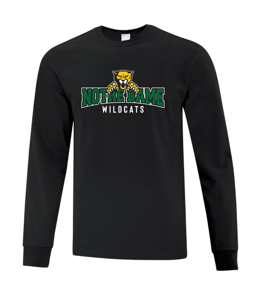 Wildcats Cotton Long Sleeve with Printed Logo YOUTH
