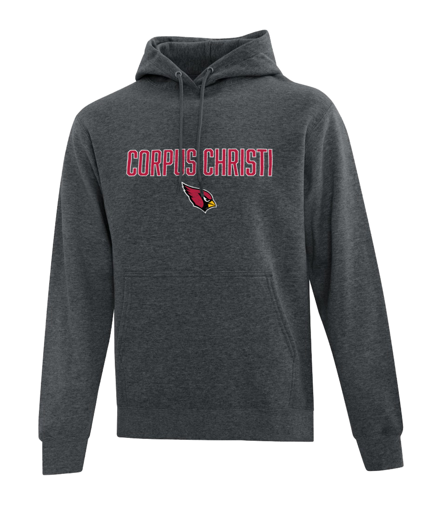 Christi Youth Fleece Hooded Sweatshirt with Personalized Left Sleeve Message