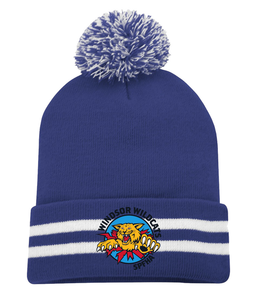 Wildcats Pom Pom Toque with Embroidered Logo