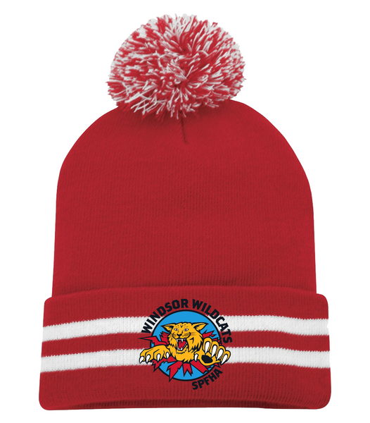 Wildcats Hockey Pom Pom Toque with Embroidered Logo