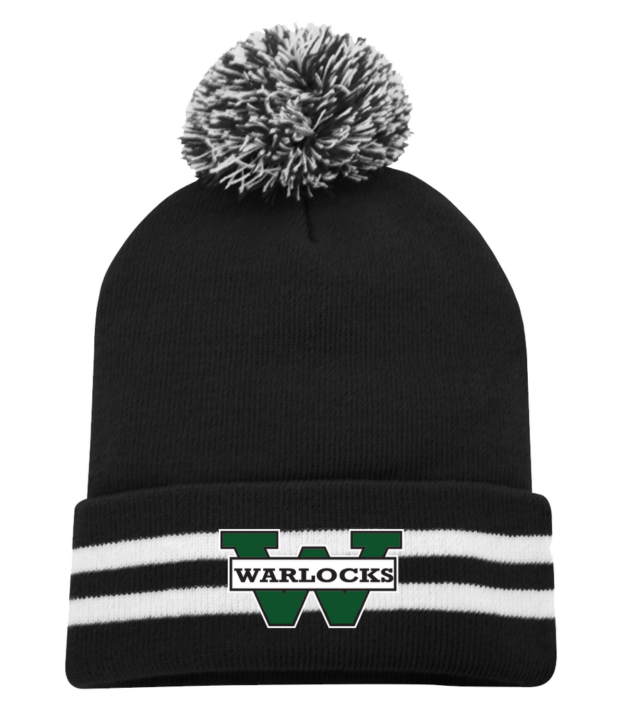 Warlocks Pom Pom Toque with Embroidered Logo