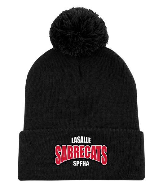 Sabrecats Pom Pom Toque with Embroidered Logo