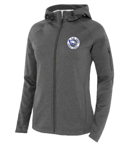 Eagles Staff Ladies Hooded Yoga jacket with Embroidered Logo
