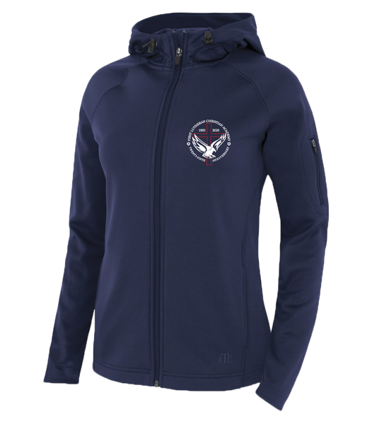 Ladies 25th Anniversary Hooded Yoga jacket with Embroidered Logo & Personalization