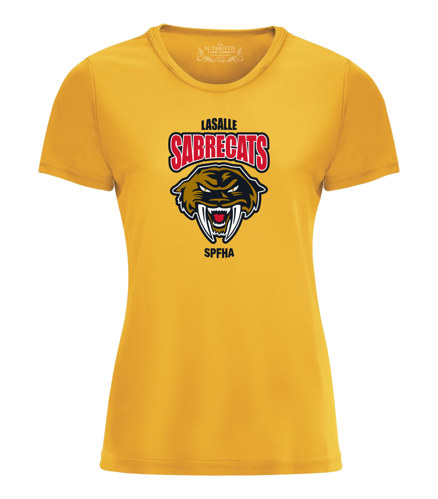 Sabrecats Performance Ladies Tee with Full Colour Printing