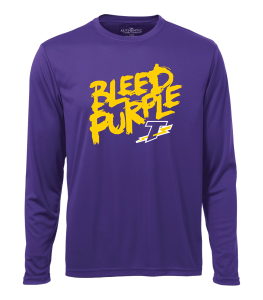 Tecumseh Thunder 'Bleed Purple' Adult Dri-Fit Long Sleeve