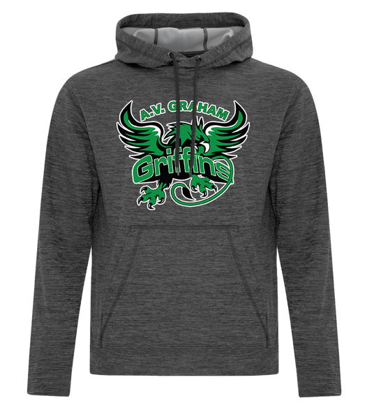 Griffins Adult Hooded Applique Sweatshirt with Personalized Lower Back