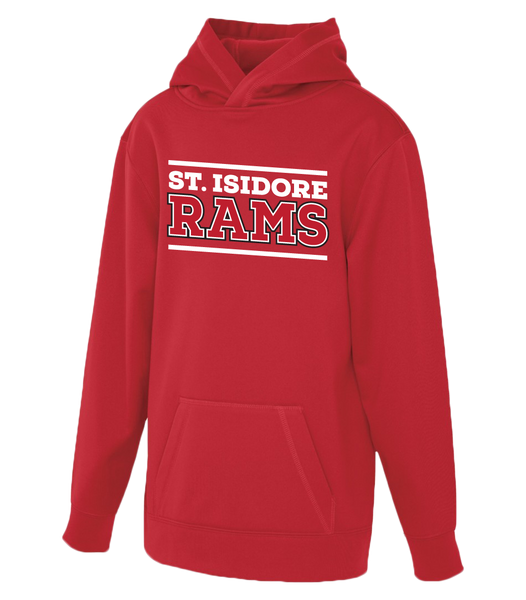 St. Isidore Rams Youth Dri-Fit Hoodie With Personalized Lower Back