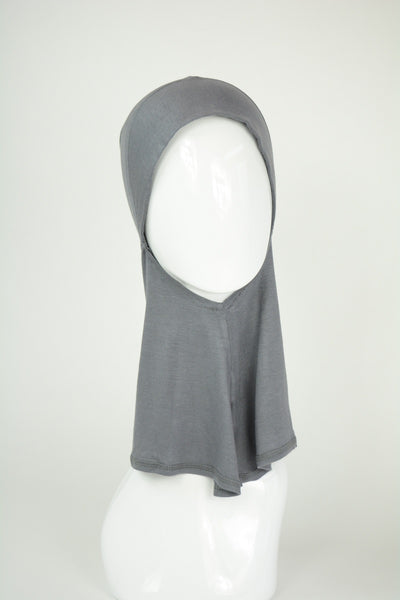 Grey Knit under scarf- Ninja style