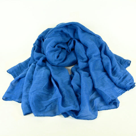 Blue Linen Cotton Hijab