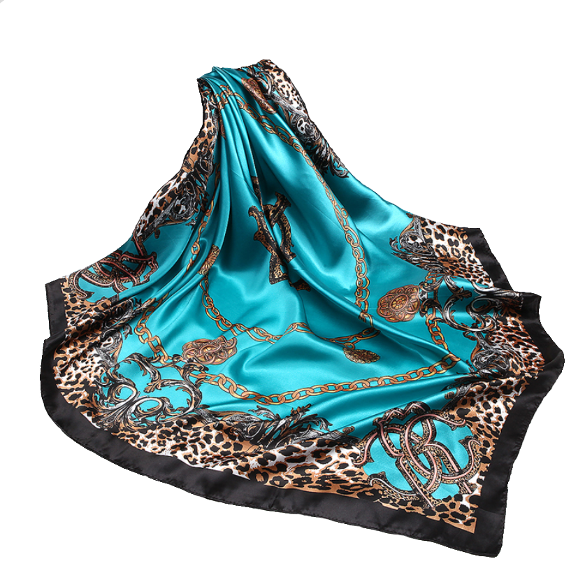 Square Leopard Accented Hijabs