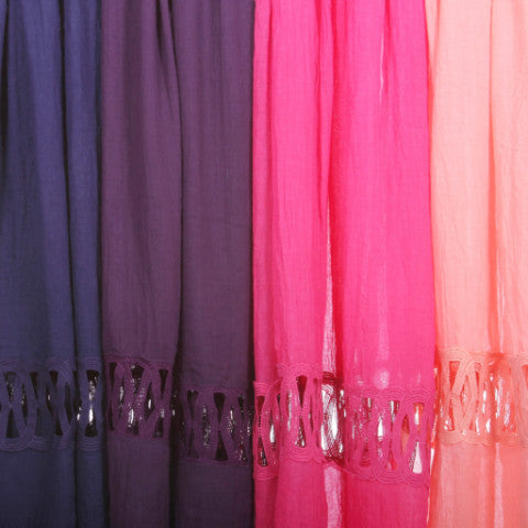 Open Lace Hijab Scarf 4 Colors