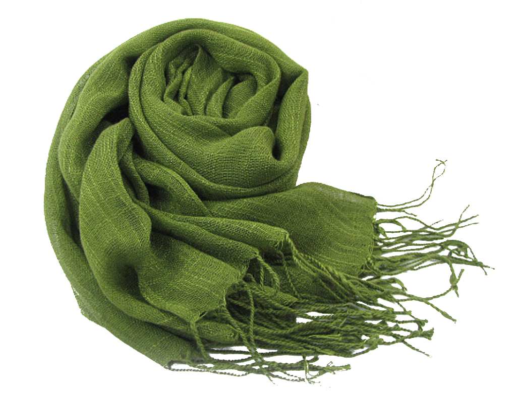Olive Green Linen scarf hijab