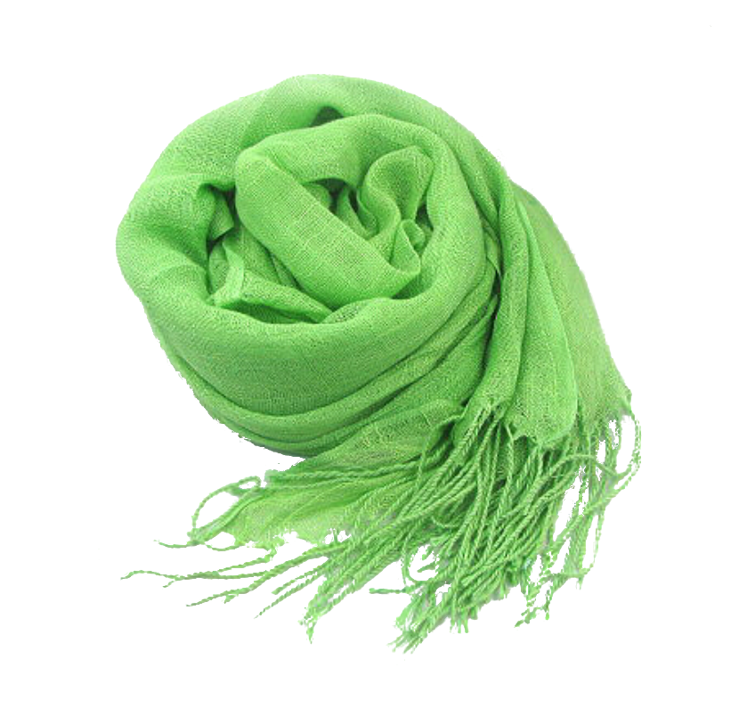 Spring Green Linen scarf hijab