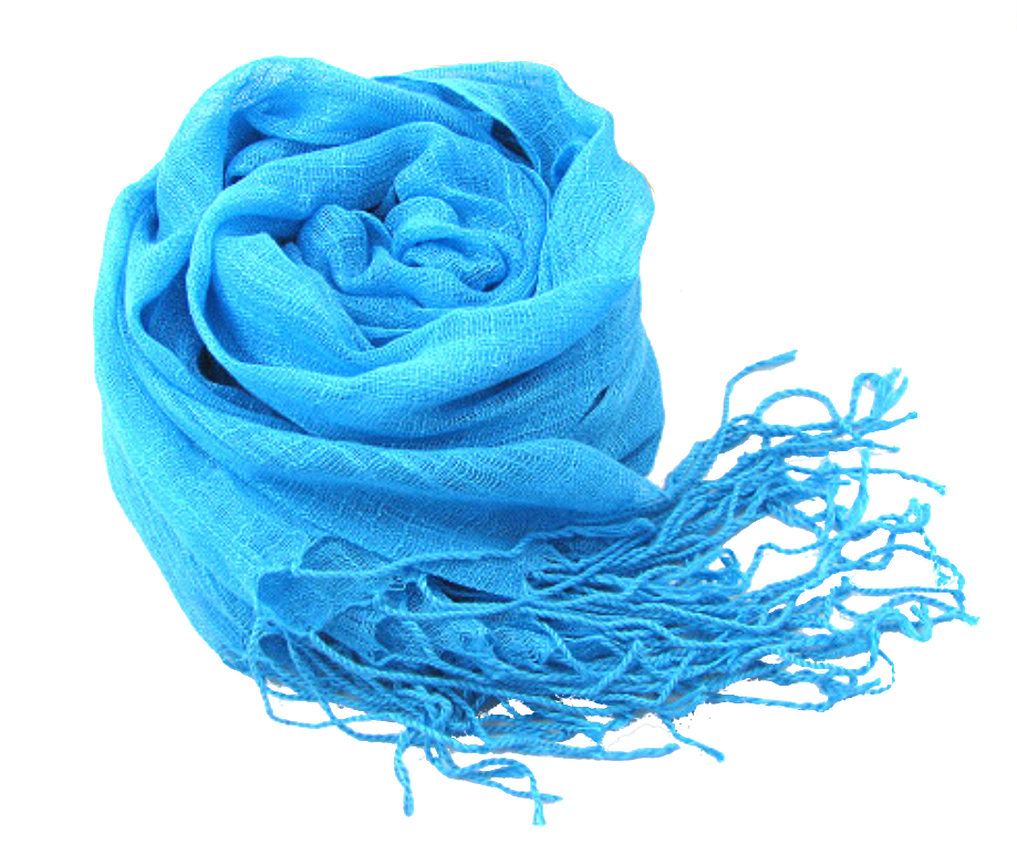 Turquoise Linen scarf hijab