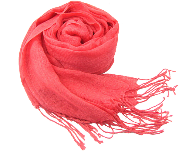 Coral color Linen hijab
