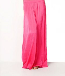 PINK PLEAT FRONT SKIRT
