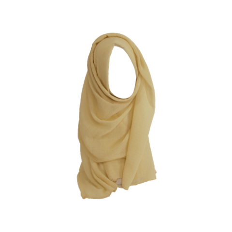 Wheat color oblong crinkle hijab scarf