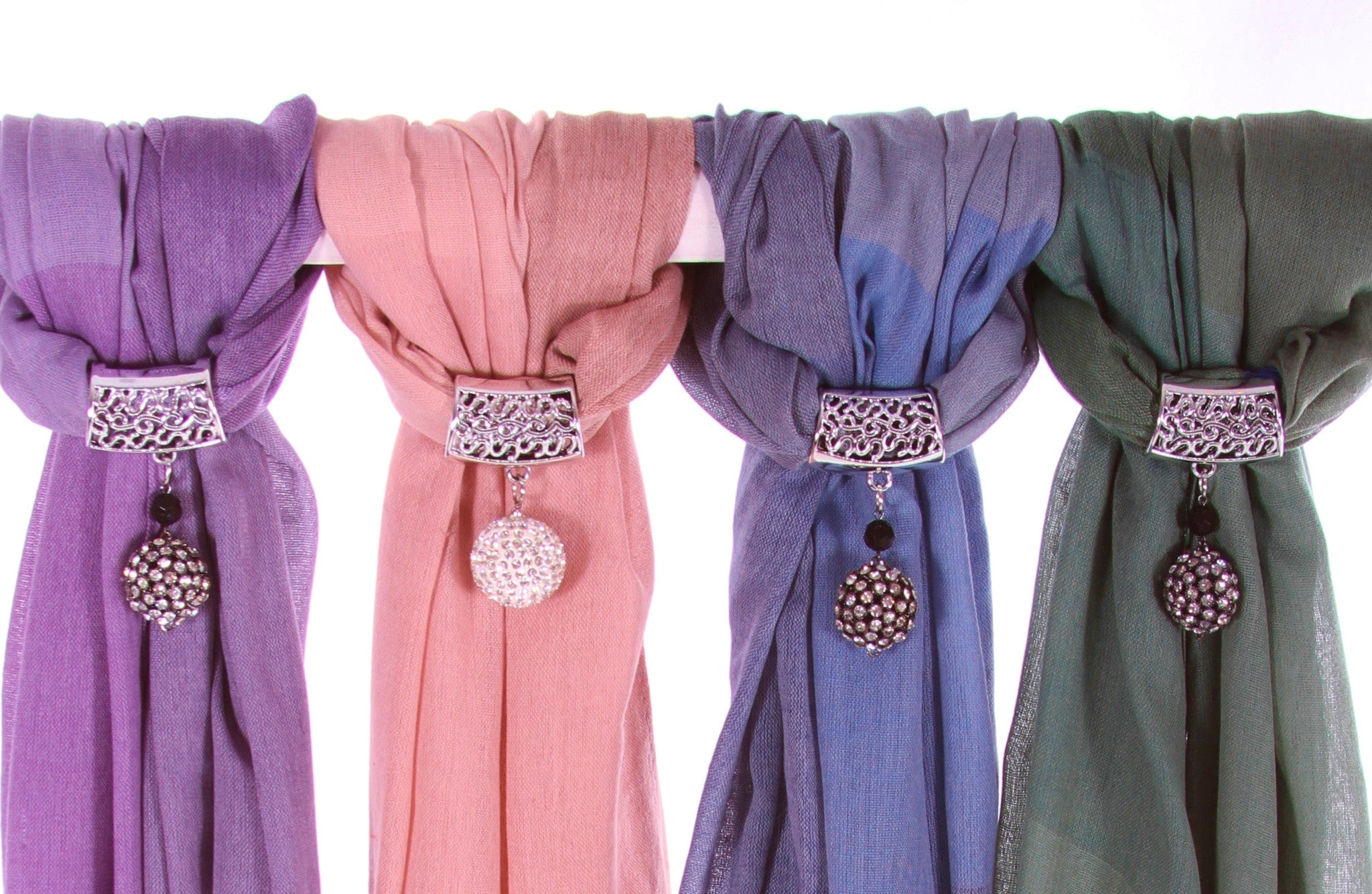 2 Tone Hijab 4 colors Scarf Mauve Pink Blue Green