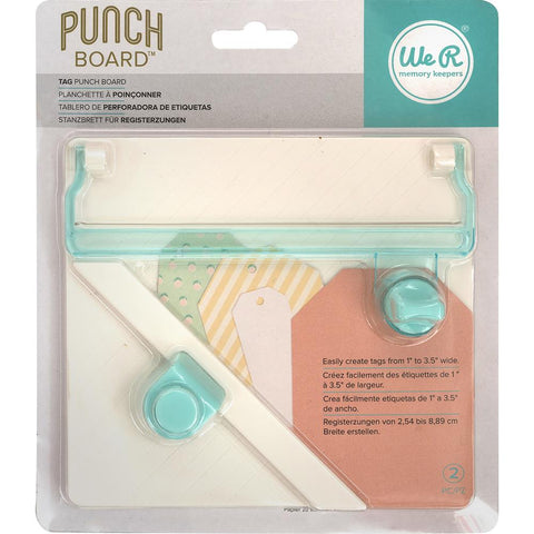 We R Memory Keepers Tag Punch Board - Pre-Oder