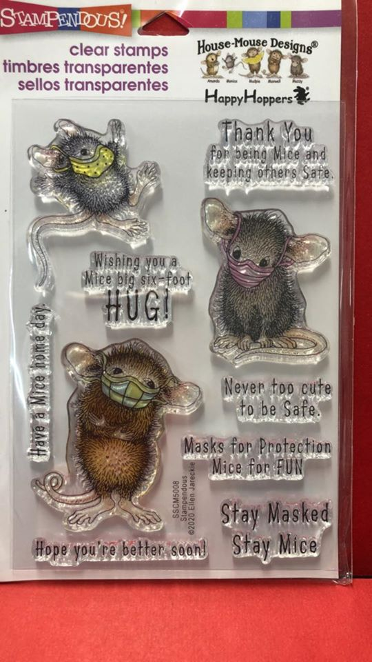 Stampendous Masked Mice Quarantine Stamps