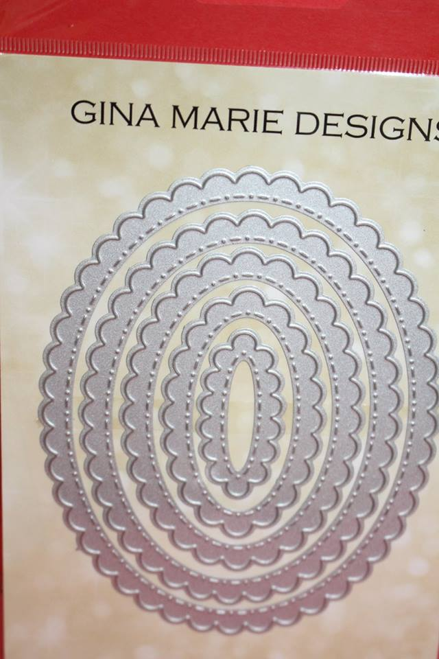 Gina Marie Designs Scalloped Stitched Ovals