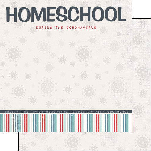 Covid-19 SC- 12x12 Homeschool Title DS Paper