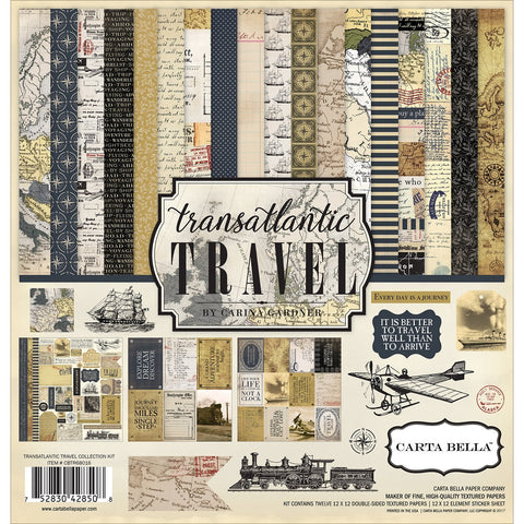Carta Bella Paper Company Transatlantic Travel Collection Kit 12x12