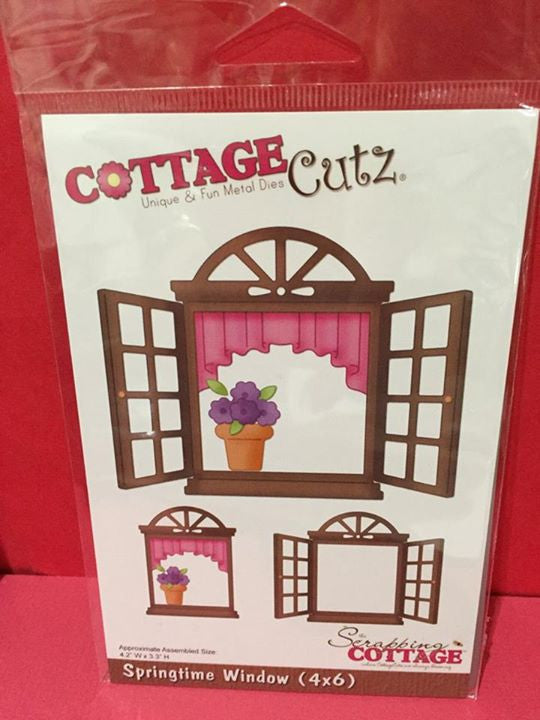 Cottage Cutz Dies Springtime Window