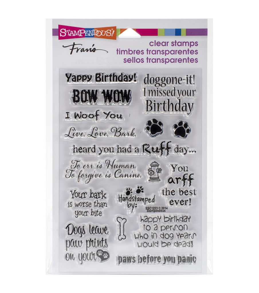 Stampendous Dog Sayings Clear Stamps